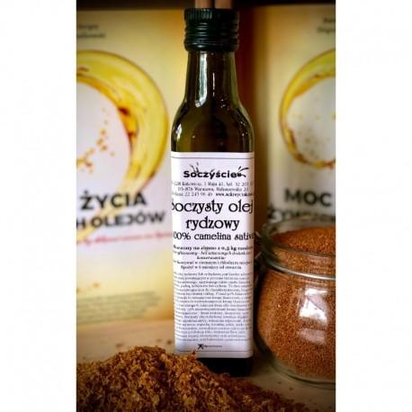 Olej rydzowy tłoczony na zimno z 0,5 kg lnianki